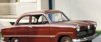 Red Ford Taunus 12M, Vintage car