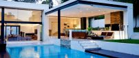 Beautiful white house with swimming pool