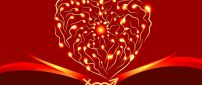 Abstract heart with lights - love wallpaper