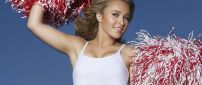 Hayden Panettiere Cheerleader with pompons