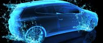 Blue water car - 3D and HD wallpaper