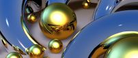 Metal balls - Abstract and 3D wallpapers
