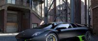Lamborghini Murcielago tuning - Black and green car