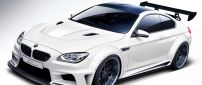 Tuning BMW M6 - White sport car