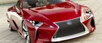Red Lexus LF-LC - Car wallpaper