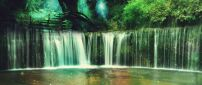 A largest waterfall in the forest - Fantasy place