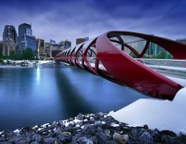 Peace Bridge from Calgary, Canada - The beautifully designed