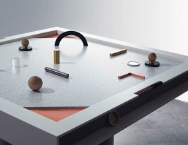 Gray hockey table - Game handmade wallpaper