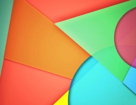 Abstract colorful wallpaper made of triangle and spheres