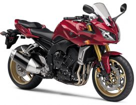Red and black Yamaha Fz1 Motorcycle