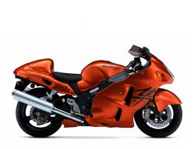 Orange Suzuki GSX 1300 R Hayabusa Motorcycle