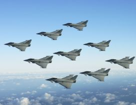 Gray Jet Fighters Formation - Planes Wallpaper