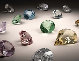 Beautiful colored diamonds - HD wallpaper
