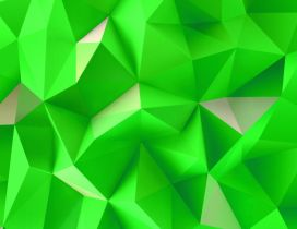 Green and white triangles - 3D Pyramids wallpaper