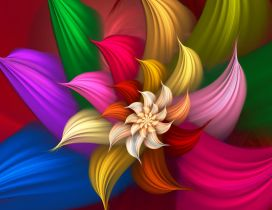 Colorful satiny bloom - HD art wallpaper