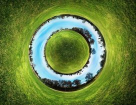 Abstract circle of world - Creative wallpaper