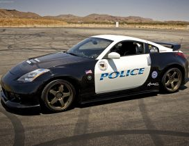 Police sport car on a track - Nissan 350Z