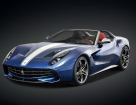 Blue Ferrari F60 - Convertible car wallpaper