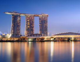 Hotel Marina Bay Sands from Singapore - Modern Architecture