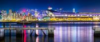 Kai Tak Cruise Terminal in night in Hong Kong