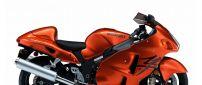 Orange Suzuki GSX 1300 R Hayabusa Motorcycle