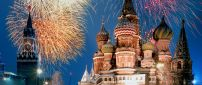 Fireworks above the St. Basil's Cathedral