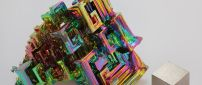 Abstract 3D multicolored form - 3D wallpaper