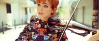 Lindsey Stirling with her violin - An American violinist