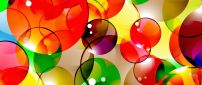 3D colorful bubbles wallpaper