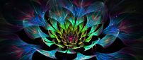Abstract colorful Lotus 3D flower - Art Design