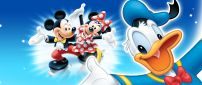 Donald Duck and Mickey with Minnie Mouse
