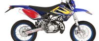 Colorful Sherco Enduro 50cc motorcycle