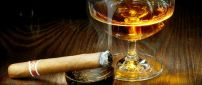 Good cognac and an expensive cigar - perfect night