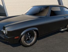 Black Chevrolet Vega - Vintage car wallpaper