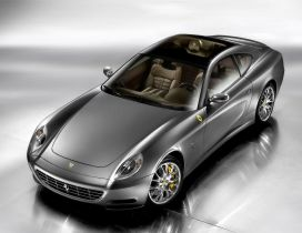 Gray Ferrari 612 Scaglietti - Sport car wallpaper