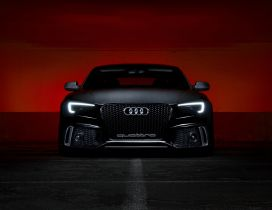 Black Audi S5 Front View - Dark wallpaper