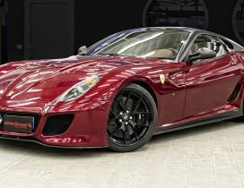 Red Ferrari 599 GTO - Sport car wallpaper