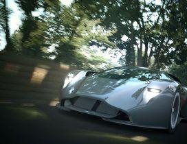 Gray Aston Martin Gran Turismo Concept
