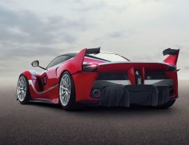 Red Ferrari FXX Static back view