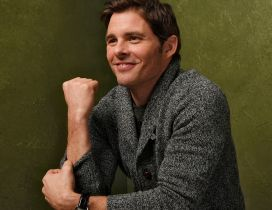 The actor James Marsden with a smile on face