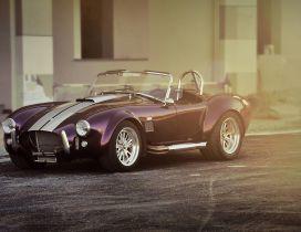 Shelby Cobra AC - Convertible purple car