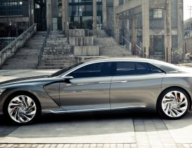 Gray Citroen Metropolis Concept Wallpaper