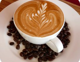 Art design in the coffee cup - Coffee beans