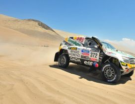 Renault Rally Dakar in desert - Race car