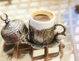 Turkish cup for coffee - HD wallpaper