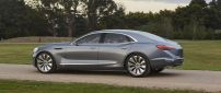 Gray Buick Avenir Concept on a field