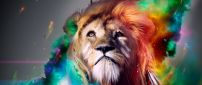 Abstract rainbow lion - Creative wallpaper
