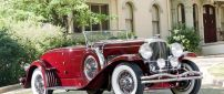 Red Duesenberg SJ 298 - Vintage Convertible Car