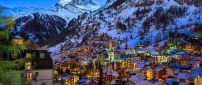 Winter at Zermatt Valley Switzerland