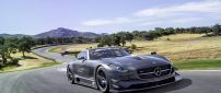 A stunning Mercedes Benz SLS AMG on road